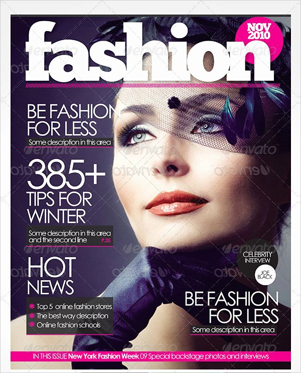 27 Magazine Cover Templates Free & Premium Download