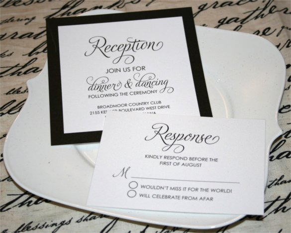 27 Modern Wedding Invitation Templates Free Sample