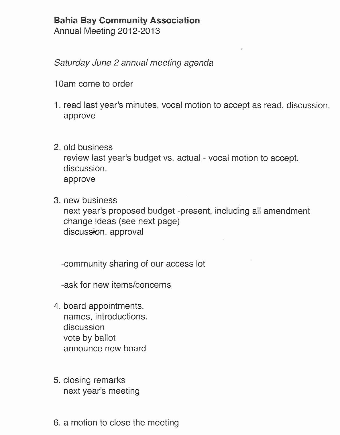 27 Of Annual Hoa Meeting Agenda Template