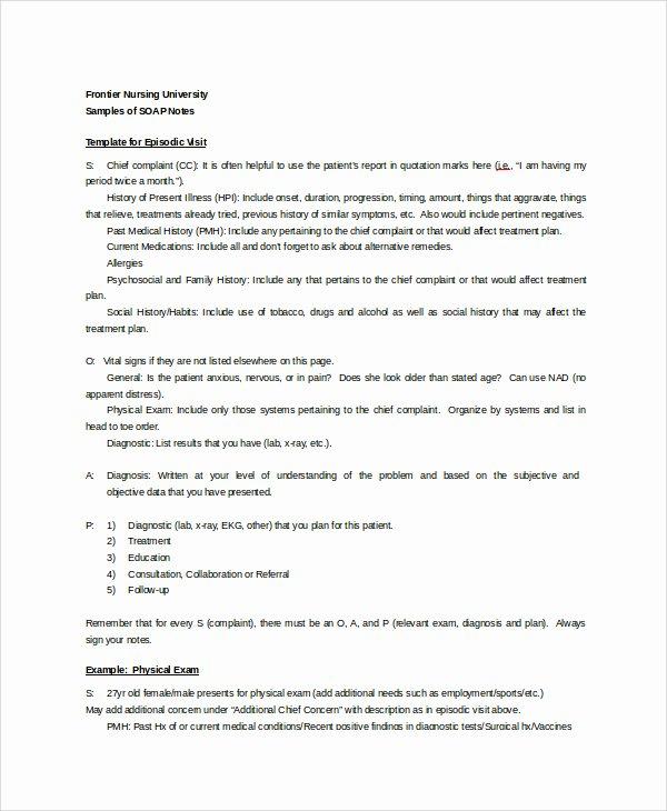 27 Of Clinical Nursing soap Documentation Template