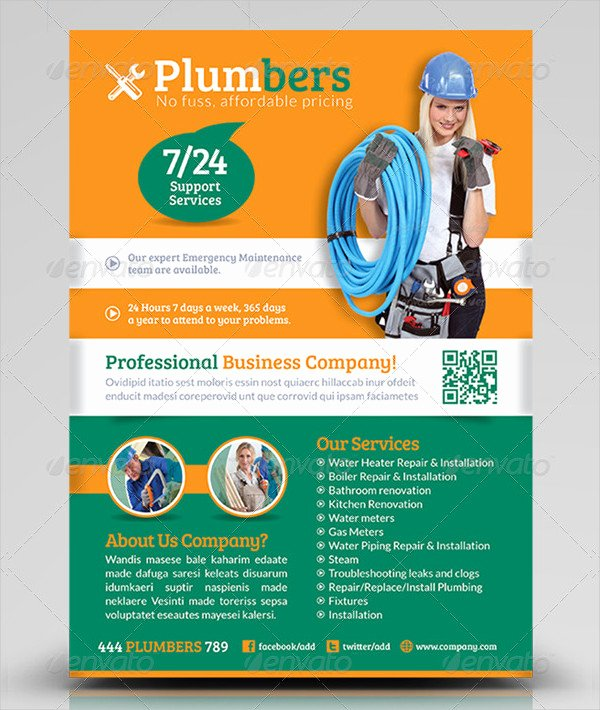 27 Plumber Flyer Templates Free & Premium Download