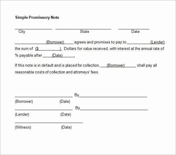 27 Promissory Note Templates