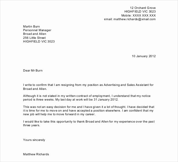 27 Resignation Letter Templates Free Word Excel Pdf