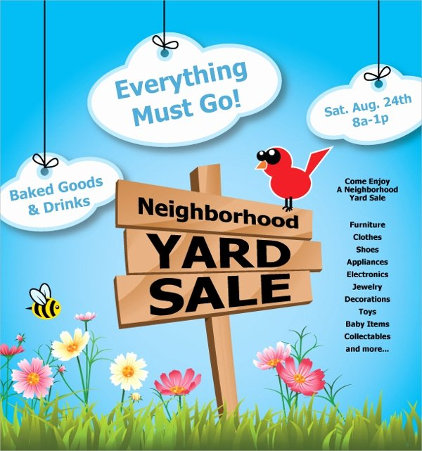 27 Yard Sale Flyer Templates