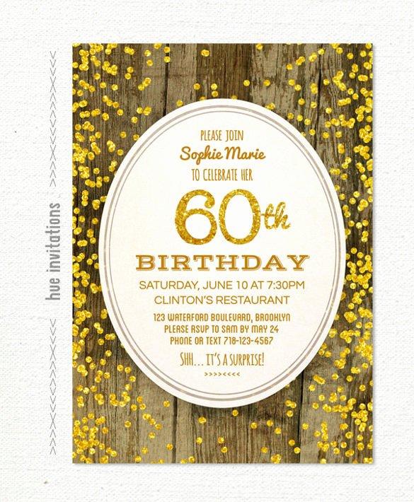 28 60th Birthday Invitation Templates Psd Vector Eps