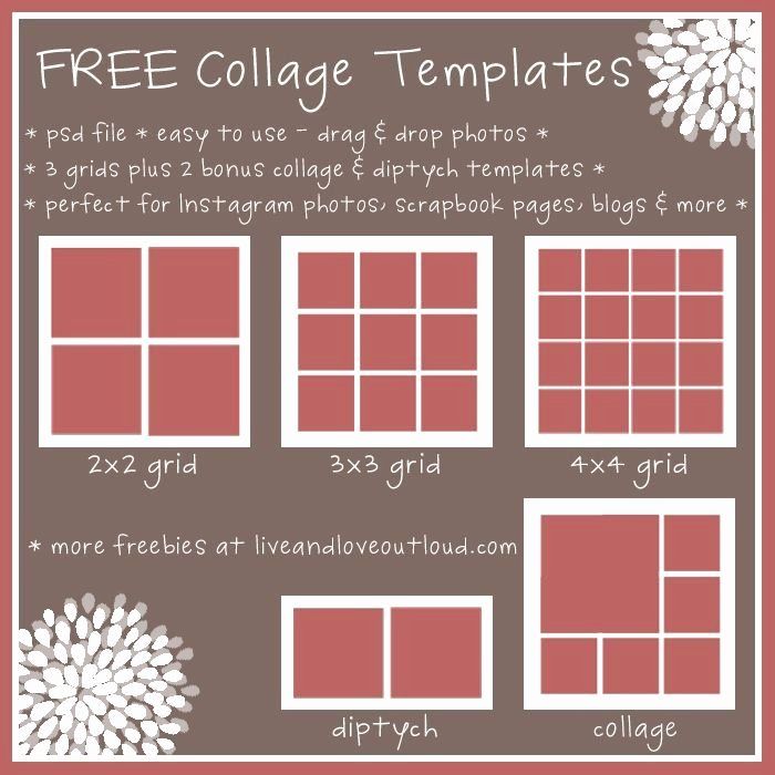 28 Best Images About Free Collage Templates On Pinterest
