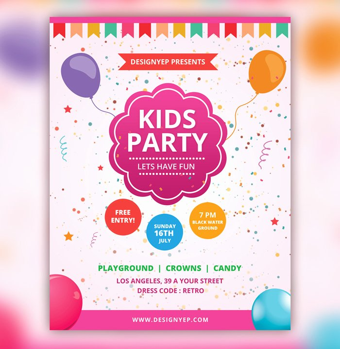 28 Birthday Party Flyer Psd Templates Free & Premium