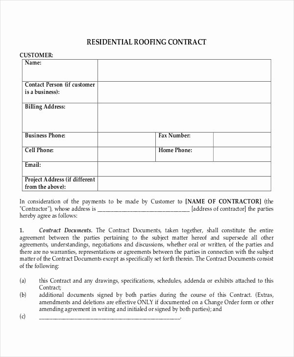 28 Contract Templates Free Sample Example format