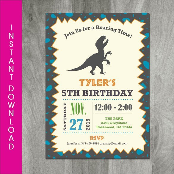 28 Dinosaur Birthday Invitation Designs & Templates Psd