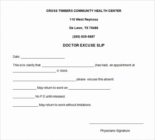 28 Doctors Note Templates Pdf Doc