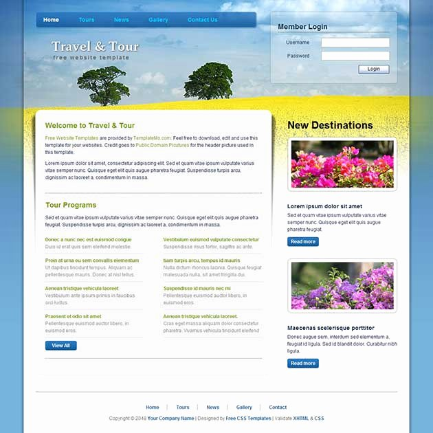 28 Dreamweaver Templates Free Download