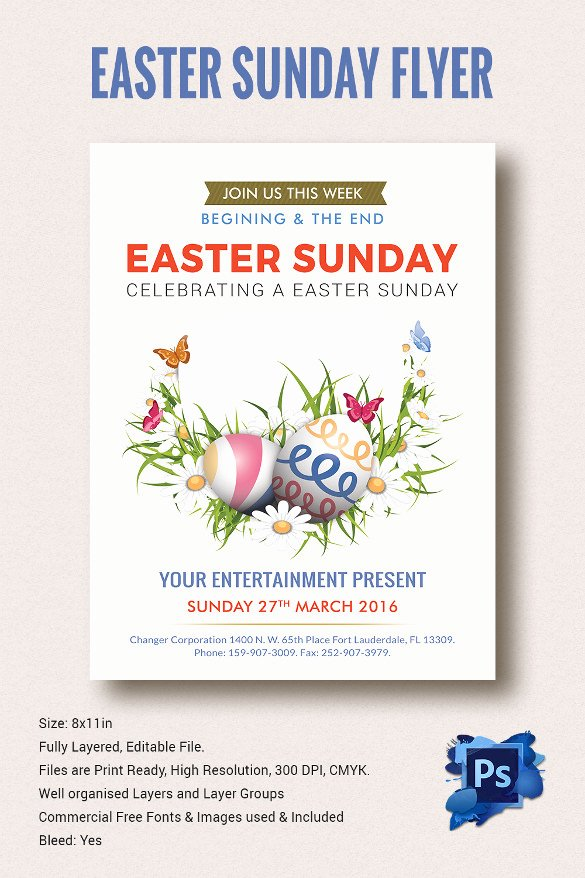28 Easter Flyer Templates to Download