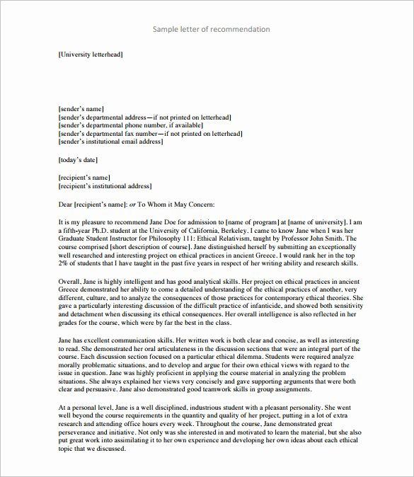 28 Letters Of Re Mendation for Teacher Pdf Doc