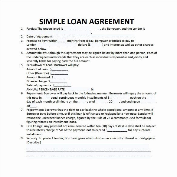28 Loan Contract Templates – Pages Word Docs
