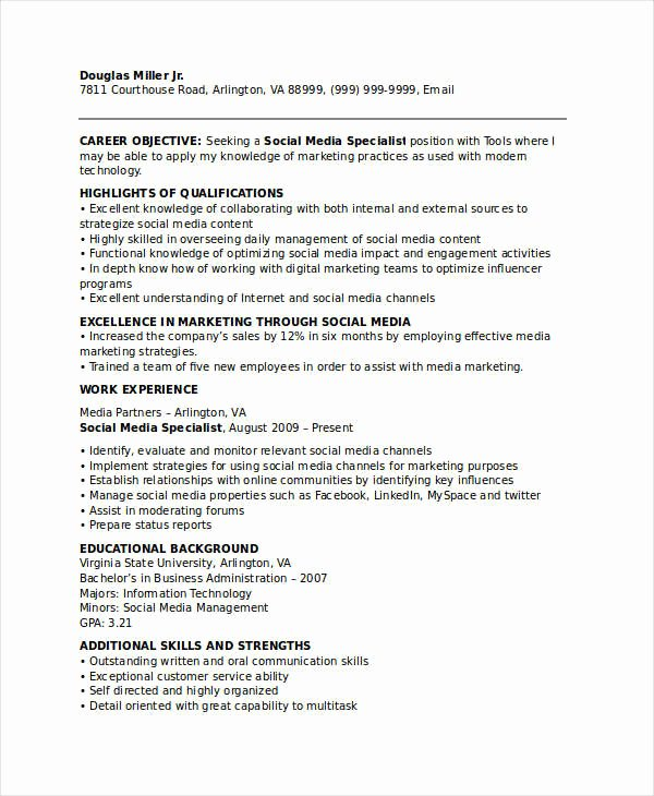 28 Marketing Resume Templates Pdf Doc