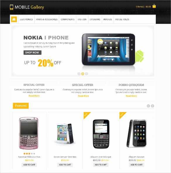 28 Mobile Website themes & Templates