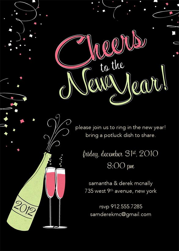 28 New Year Invitation Templates – Free Word Pdf Psd