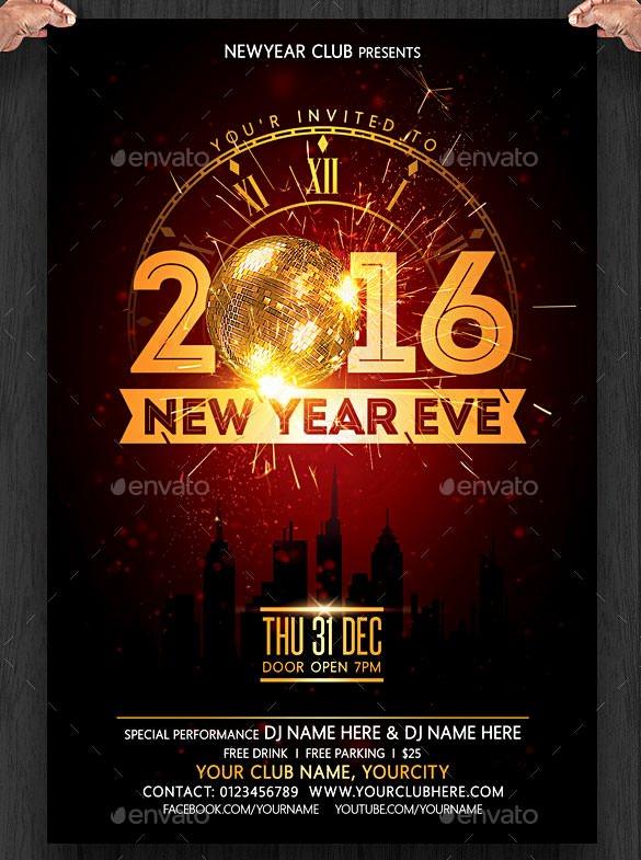 28 New Year Invitation Templates – Free Word Pdf Psd