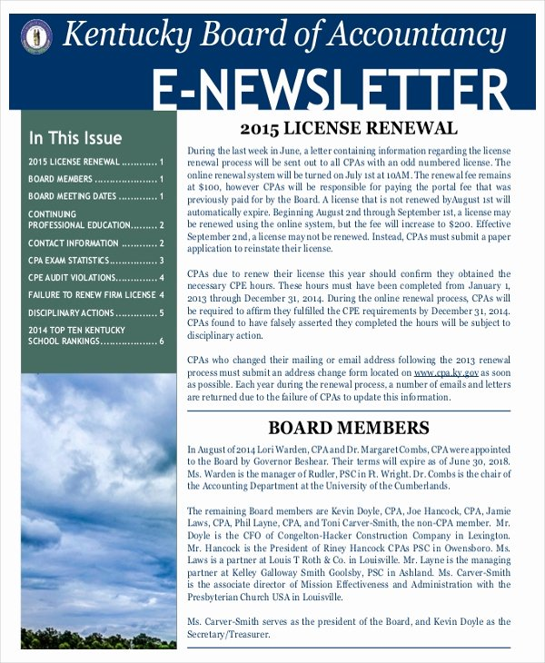 28 Newsletter Template Free Psd Ai Word Pdf