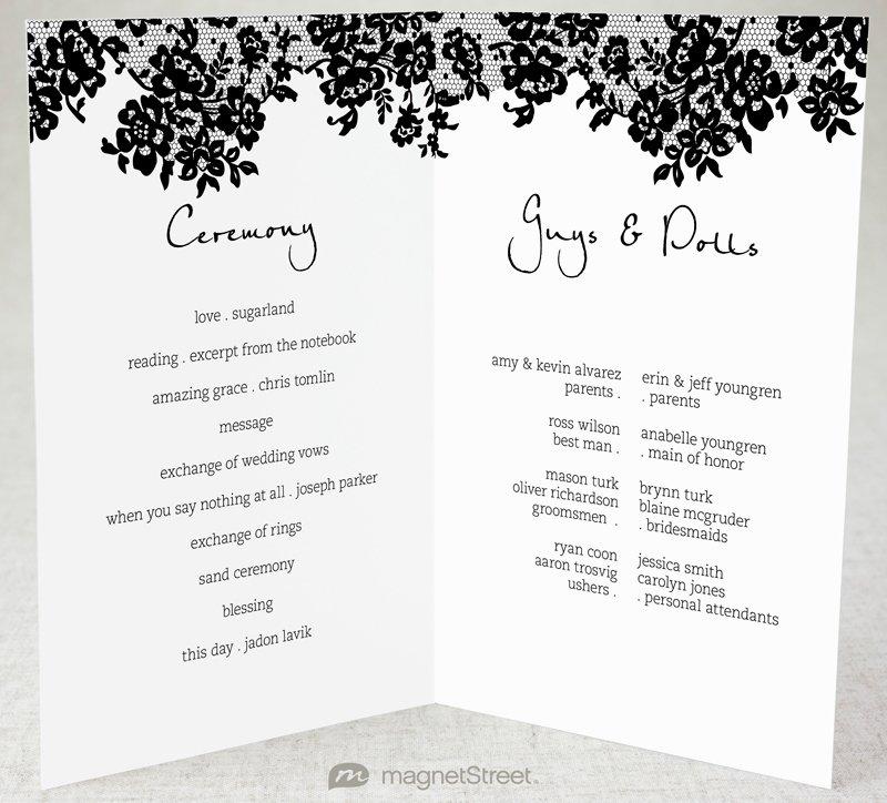 28 Of 2 Fold Wedding Program Template Free