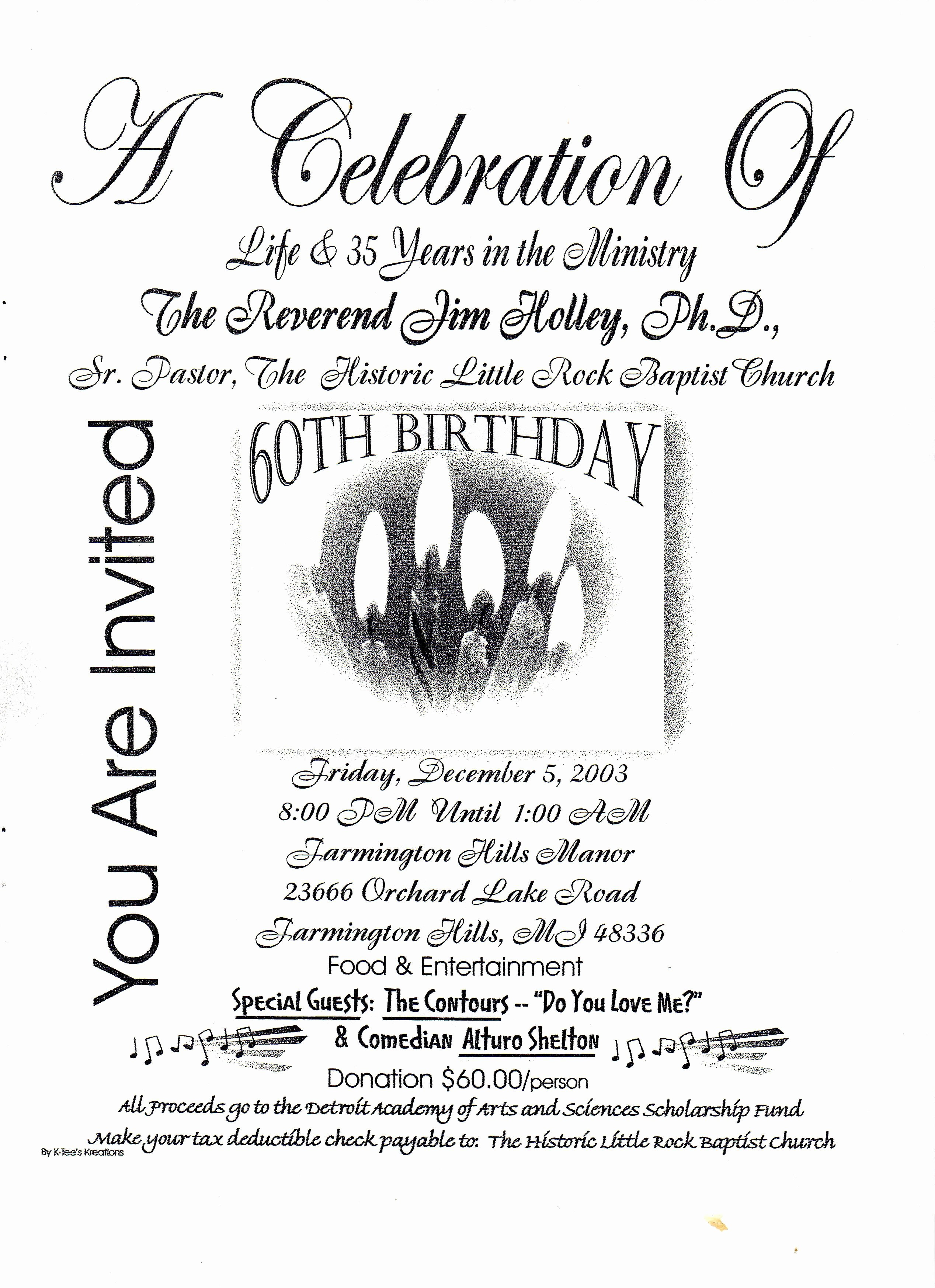 28 Of 60th Birthday Party Program Template