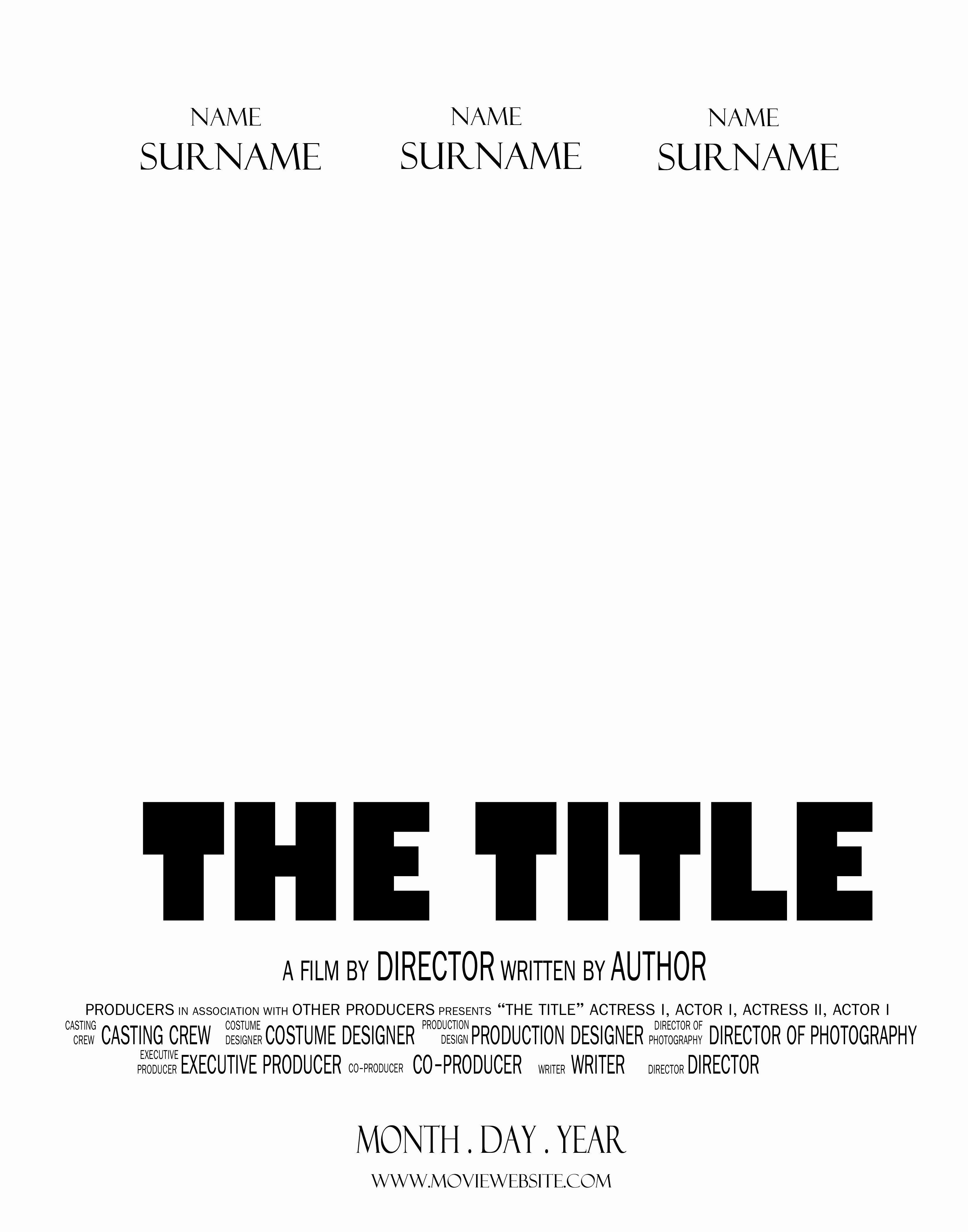 28 Of Movie Poster Template for Microsoft Word