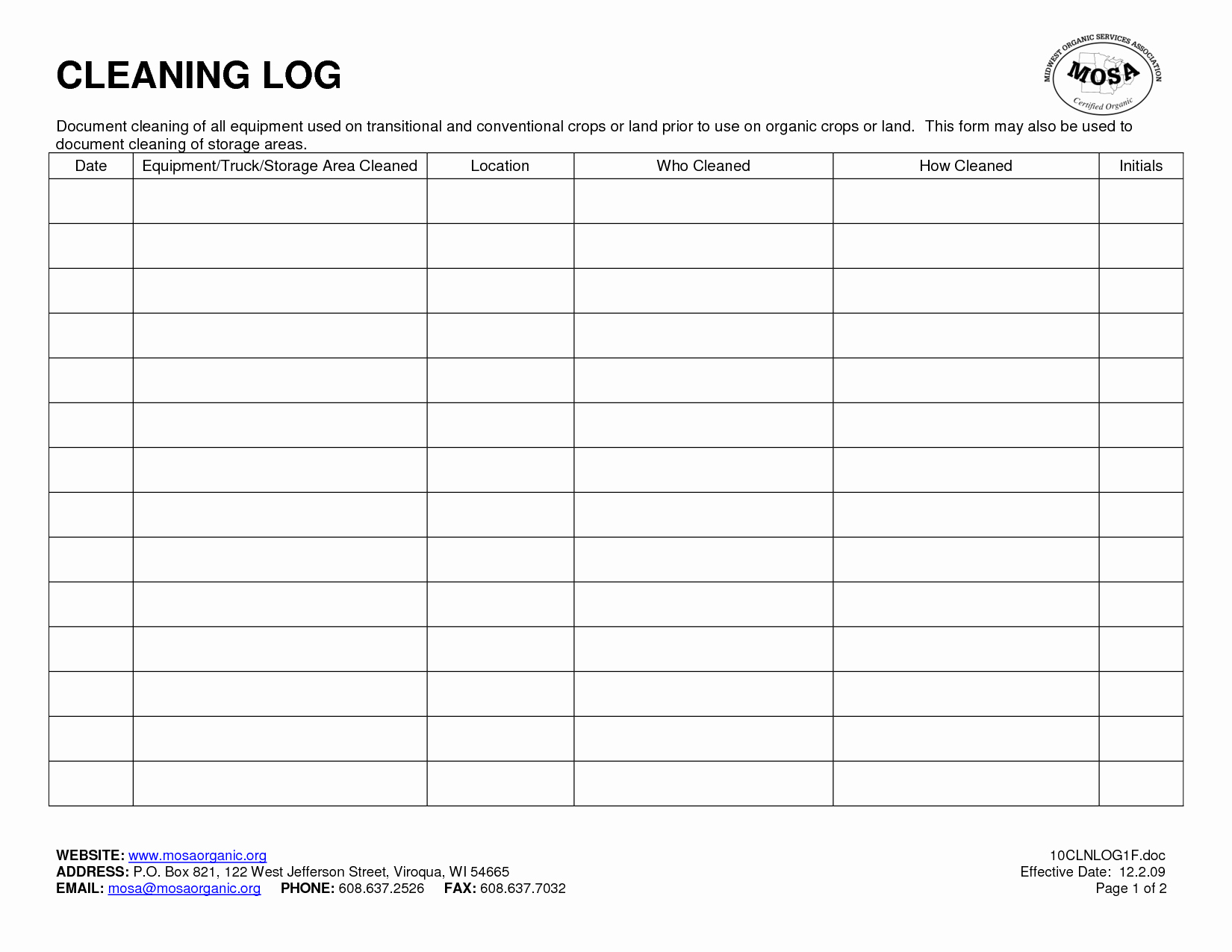 28 Of Printable Autoclave Cleaning Log Sheet