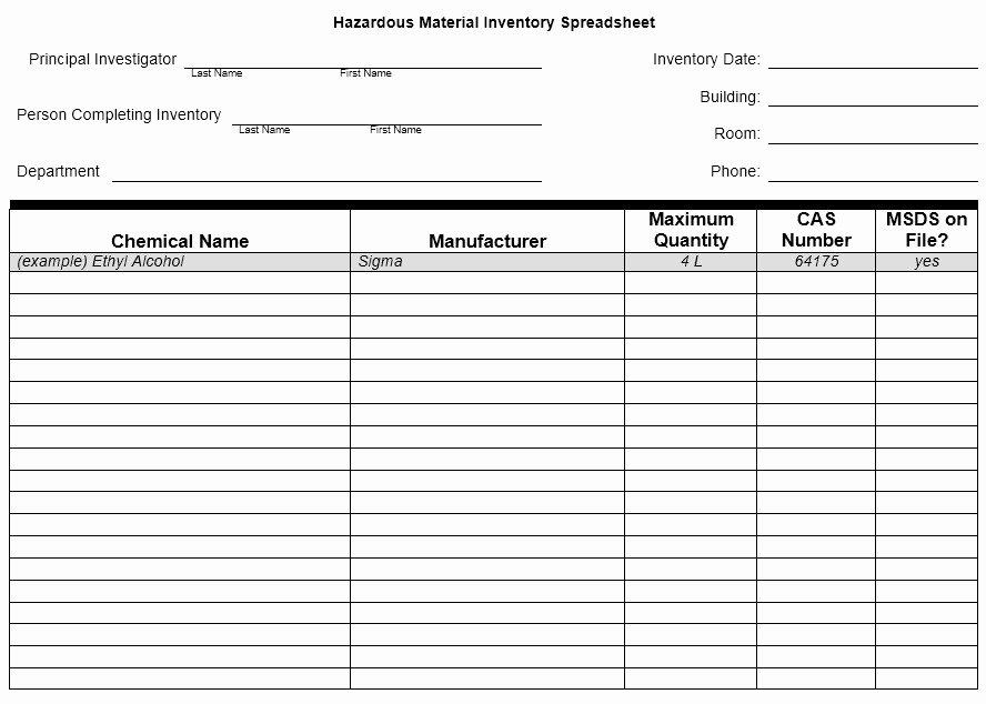 28 Of Template List Hazardous Chemicals