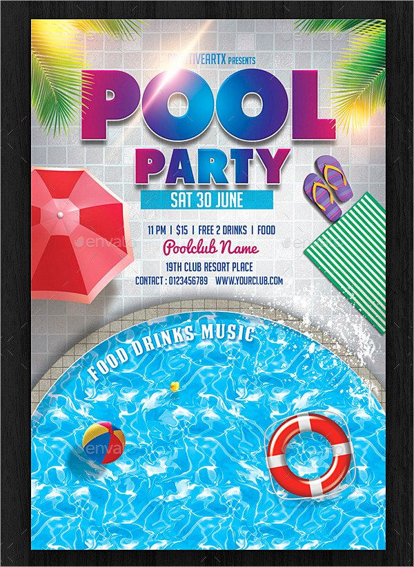 28 Pool Party Invitations Free Psd Vector Ai Eps format Download