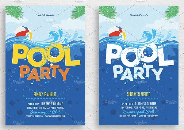 28 Pool Party Invitations Free Psd Vector Ai Eps