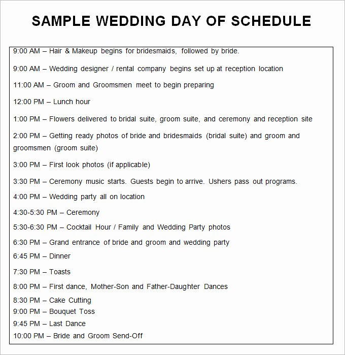 28 Wedding Schedule Templates & Samples Doc Pdf Psd