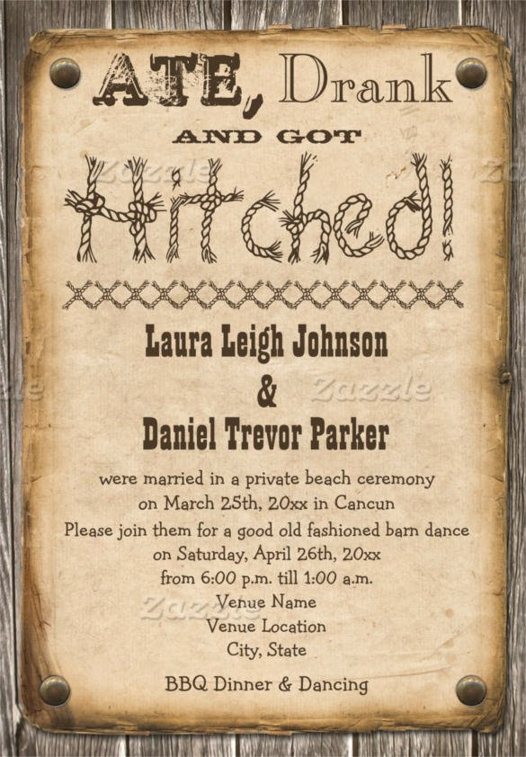 28 Western Wedding Invitation Templates – Free Sample