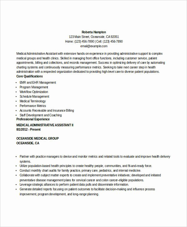 29 Administration Resume Samples Pdf Doc