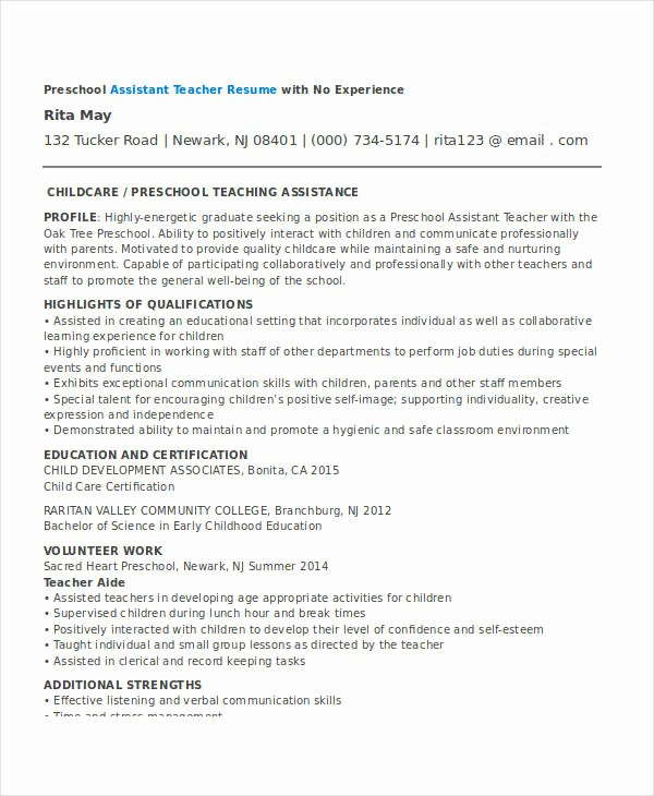 29 Basic Teacher Resume Templates Pdf Doc