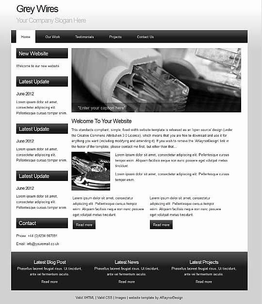 29 Free Dreamweaver Templates – Best Dreamweaver Website