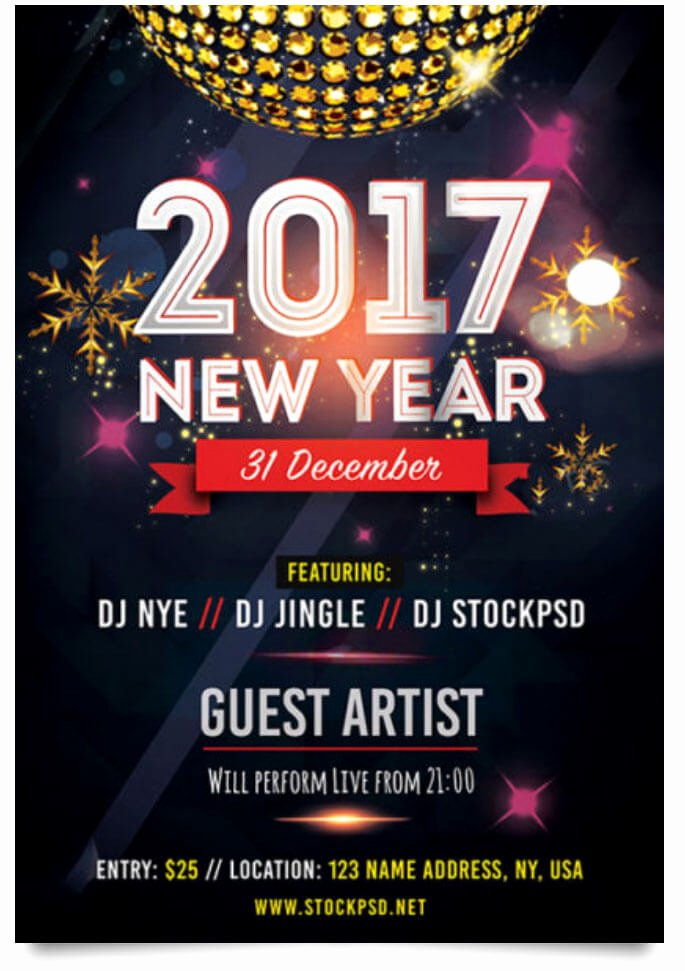 29 Free New Year Flyer Templates In Psd Vector Ai Tech