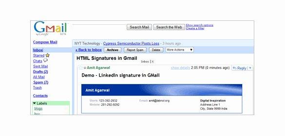 29 Gmail Signature Templates – Samples Examples & format