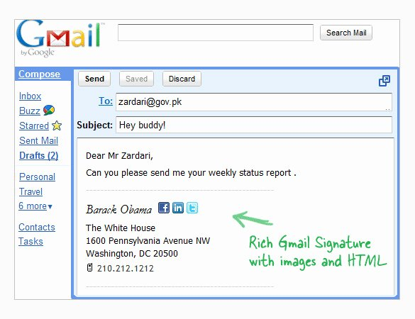 29 Gmail Signature Templates – Samples Examples & format