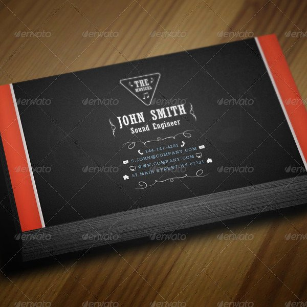 29 Music Business Card Templates Free & Premium Download