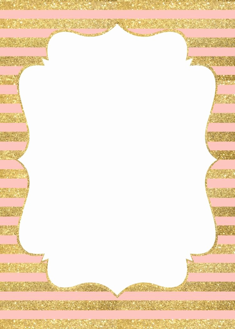 29 Of Blank Template Pink Blackand Gold