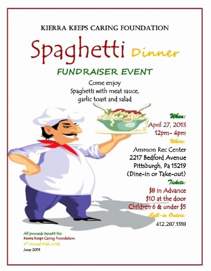 29 Of Spaghetti Dinner Fundraiser Ticket Template