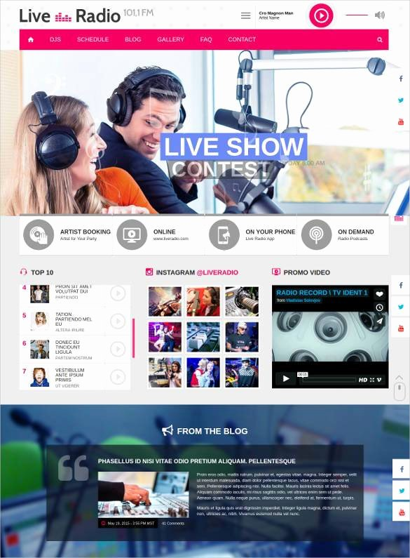 29 Radio Station Website themes & Templates