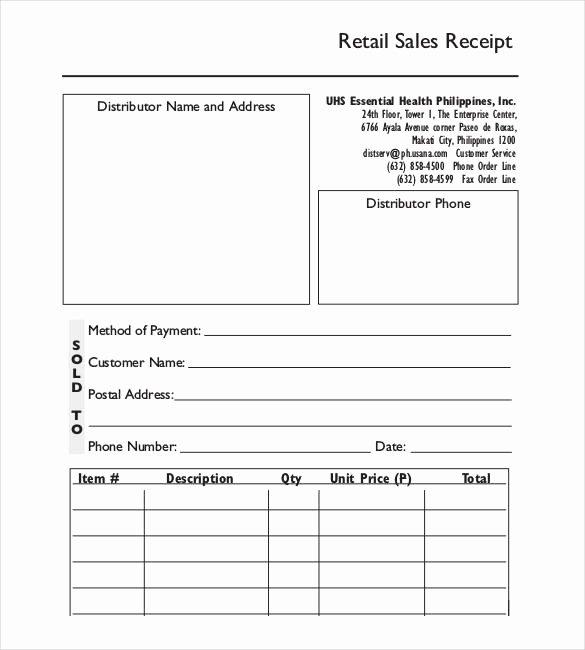 29 Sales Receipt Templates Doc Excel Pdf
