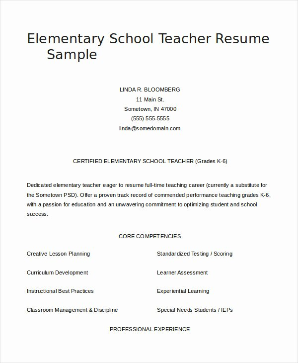 29 Teacher Resume Templates Free Pdf Word Documents