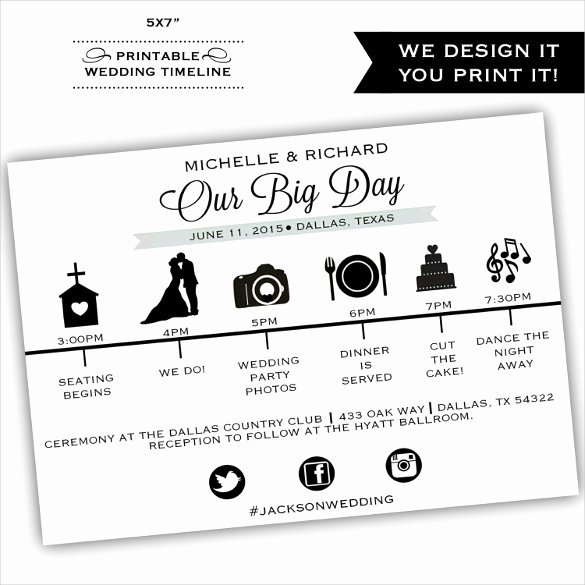 29 Wedding Timeline Template Word Excel Pdf Psd