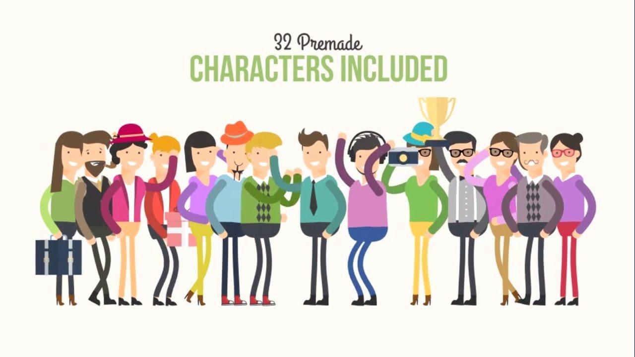 2d Character Animation Explainer after Effects Template