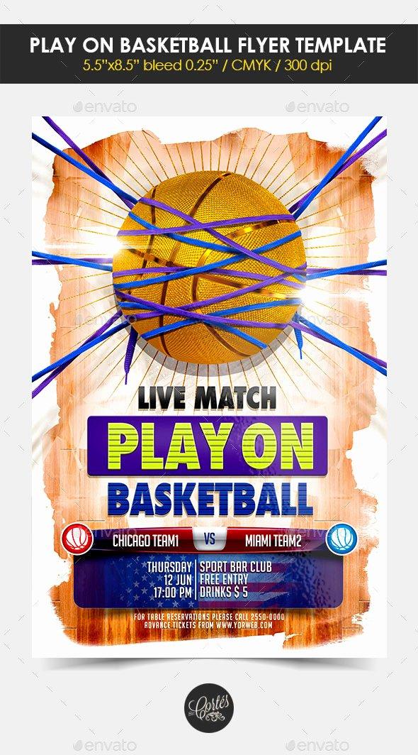 3 3 Basketball Flyer Template Tinkytyler Stock