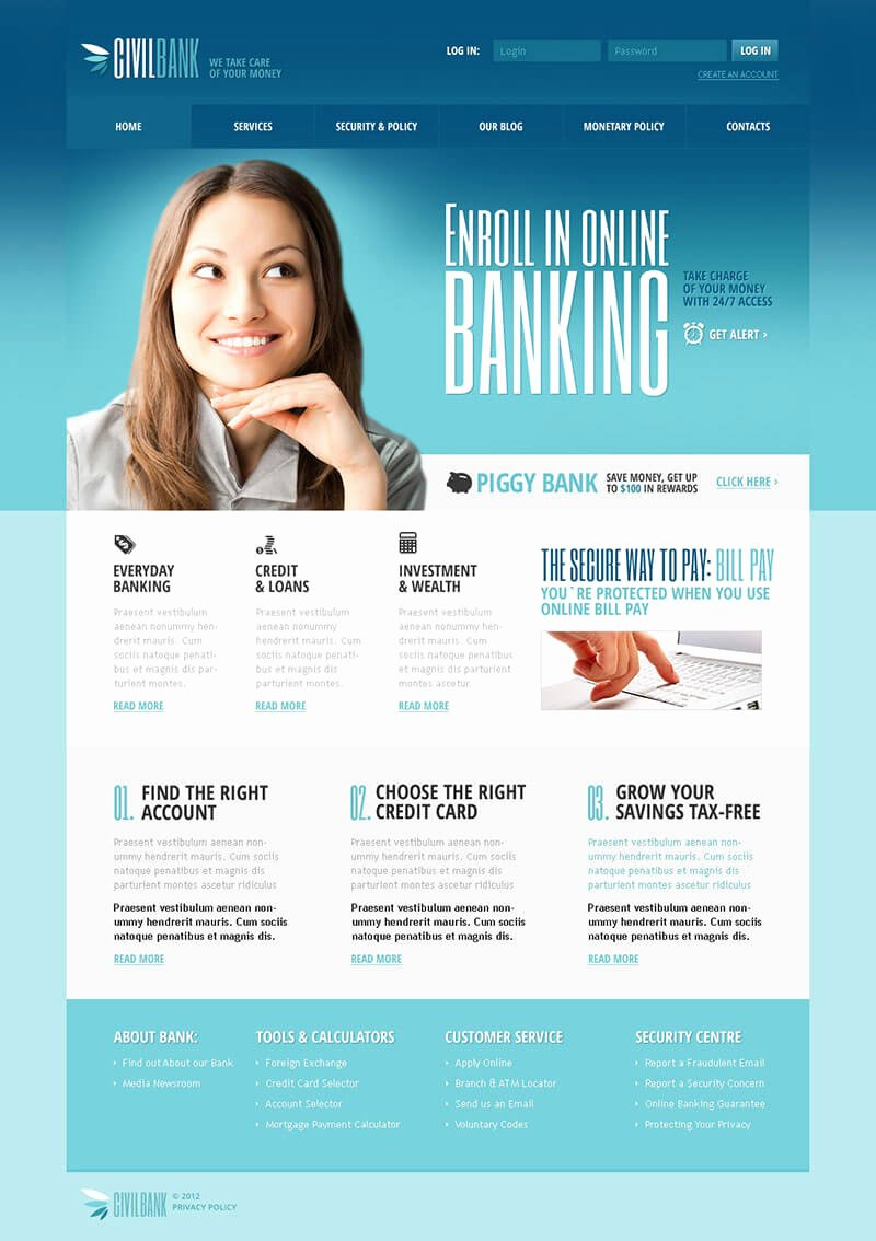 3 Bank Joomla Website Templates & themes Free Download