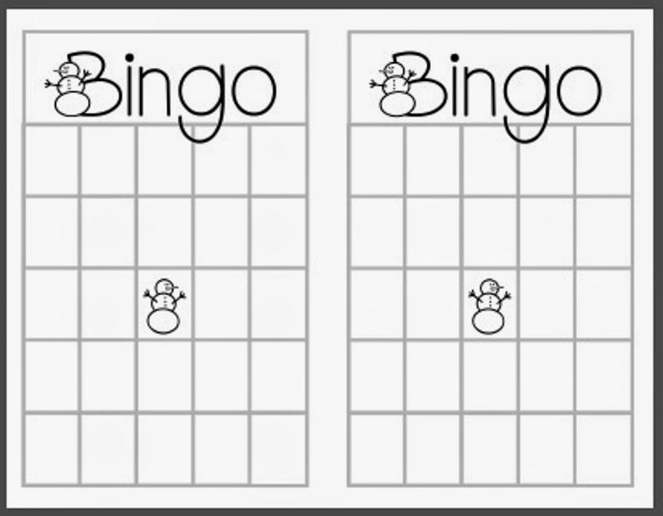 3 Blank Christmas Bingo Templates