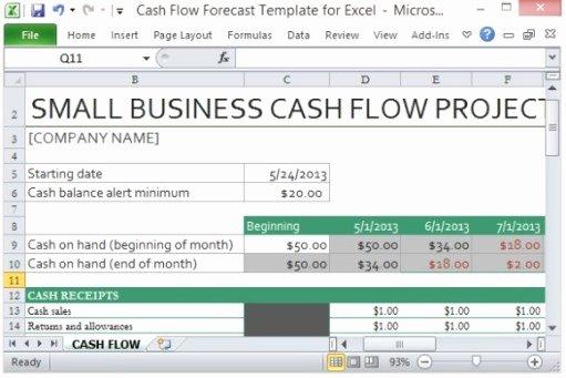 3 Cash Flow Excel Templates Excel Xlts